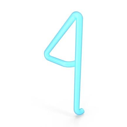 Neon Number 4