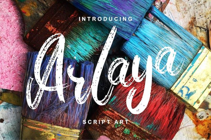 Arlaya | Script Art Font