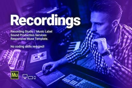 Recs - Recording Studio / Music Label Template