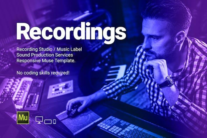 Thumbnail for Recs - Recording Studio/Modèle d'étiquette de musique