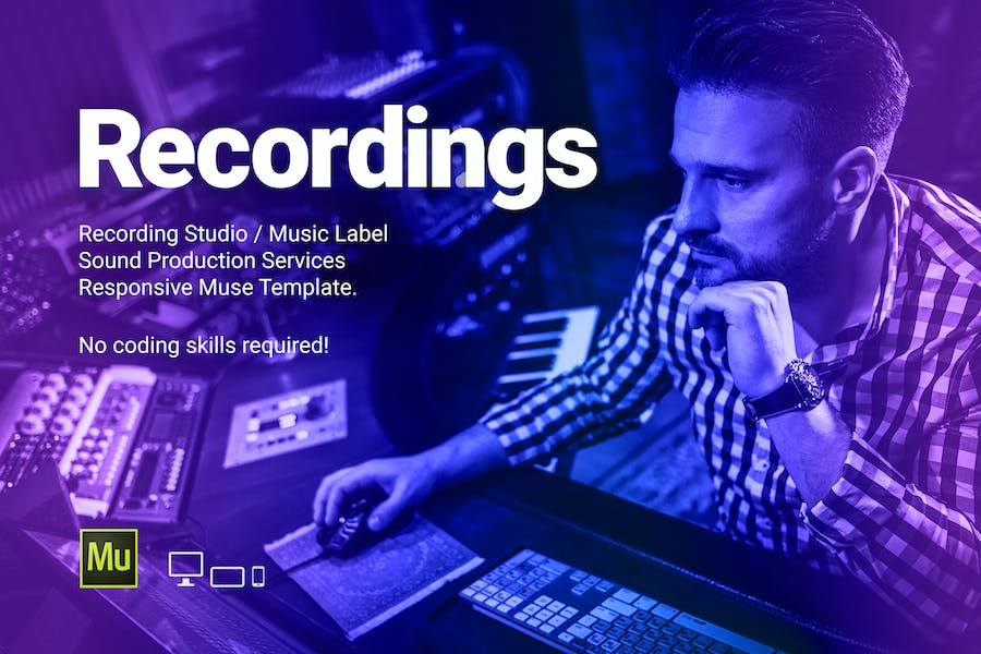 Recs - Recording Studio / Music Label Template