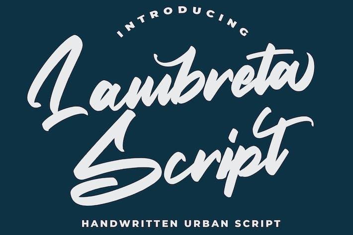 Thumbnail for Lambreta Script Font