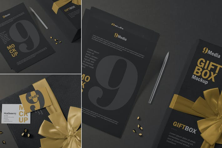 Thumbnail for Letterhead & Business Card Mockups