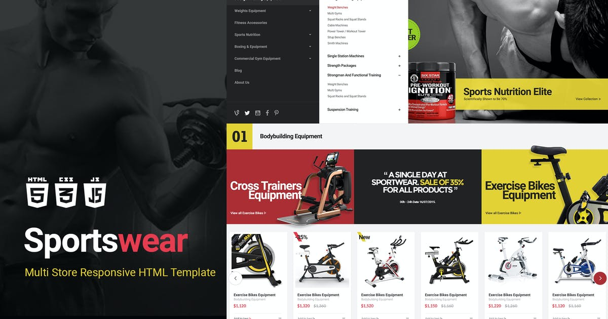 Download Sportwear | Multi Store Responsive HTML Template by EngoTheme