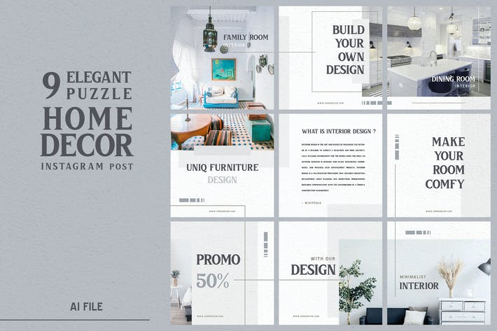 Thumbnail for Elegant Puzzle Theme - Home Decor Instagram Post