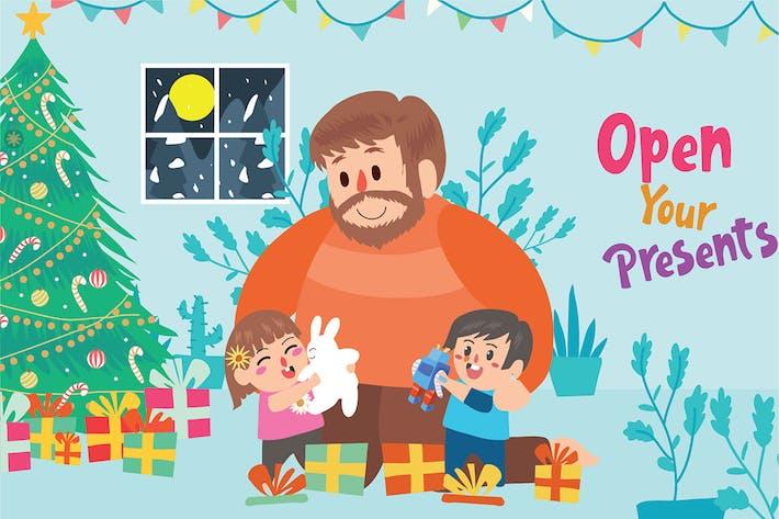 Thumbnail for Weihnachtsgeschenke - Vektor Illustration