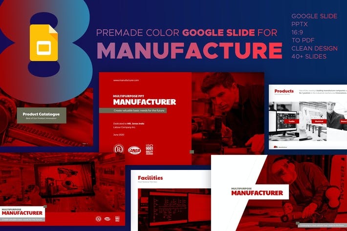Thumbnail for Manufacturer Google Slide Presentation