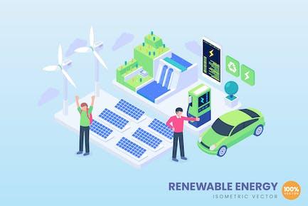 Isometric Renewable Energy Concept