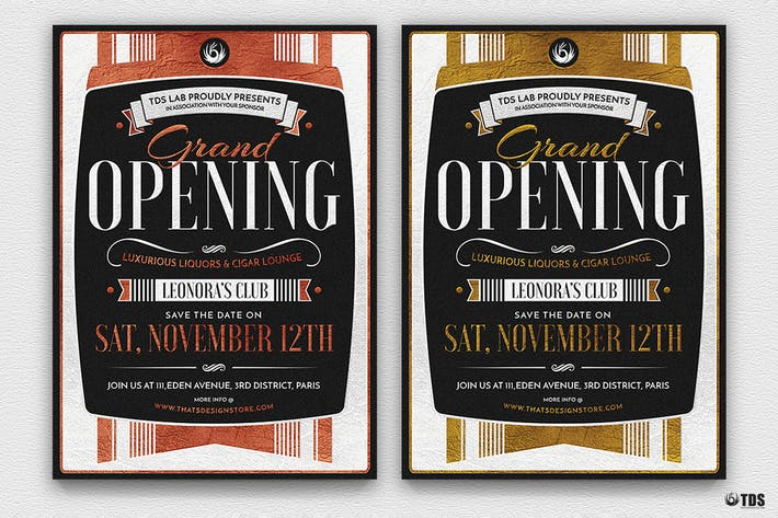 Thumbnail for Grand Opening Flyer Template