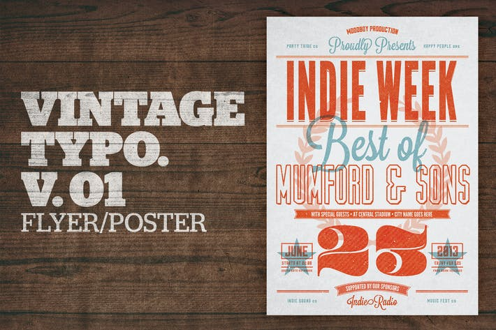 Thumbnail for Vintage Typography Poster V01