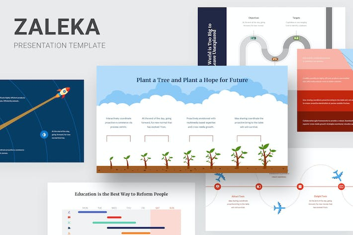 Thumbnail for Zaleka - Timeline Infographic Powerpoint