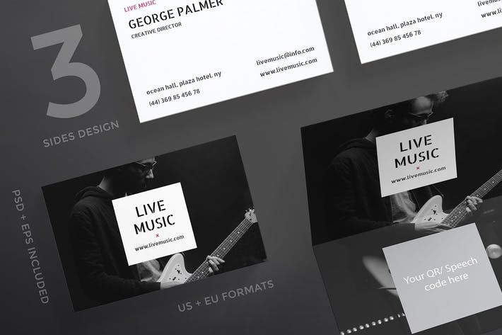 Thumbnail for Music Concert Business Card Template