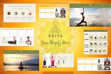 Kriya - Магазин йоги Shopify, Магазин пилатес Тема