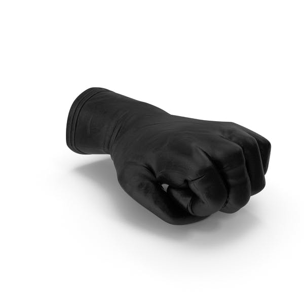 Black Leather Glove Fist