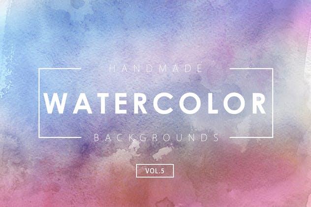 Handmade Watercolor Backgrounds Vol.5