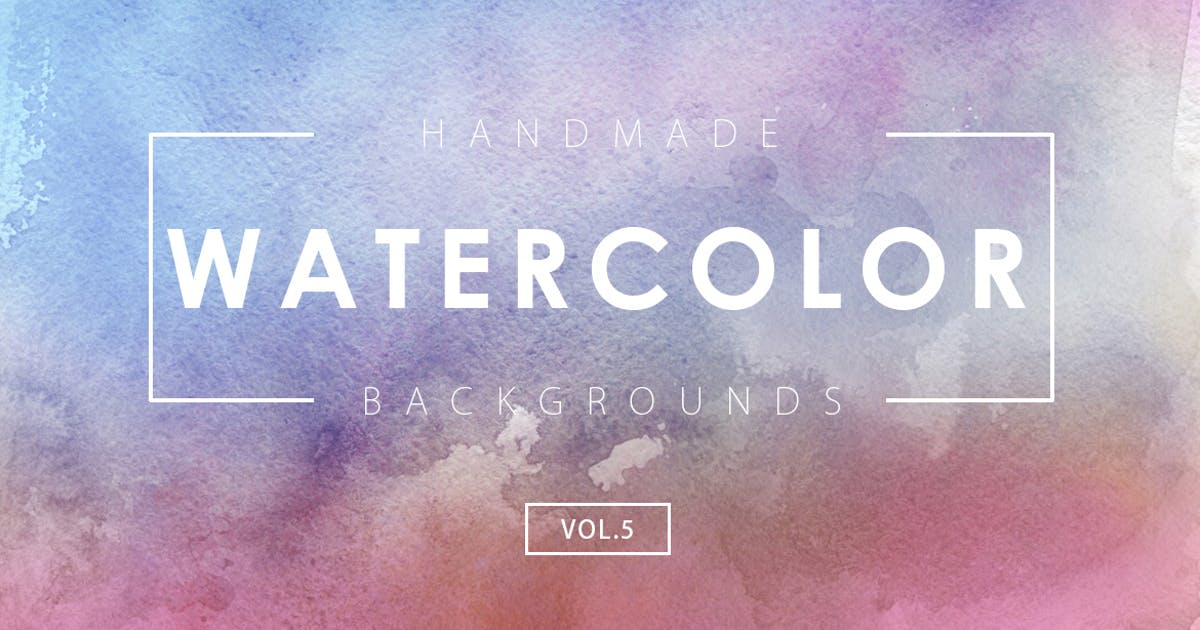 Handmade Watercolor Backgrounds Vol.5 by M-e-f