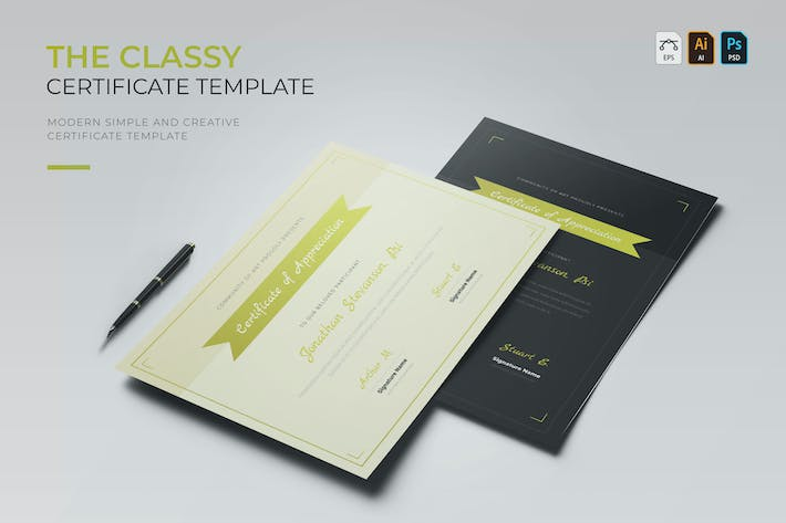 Thumbnail for Classy | Certificate