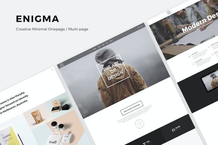 Thumbnail for Enigma | Creative Responsive Minimal HTML Template