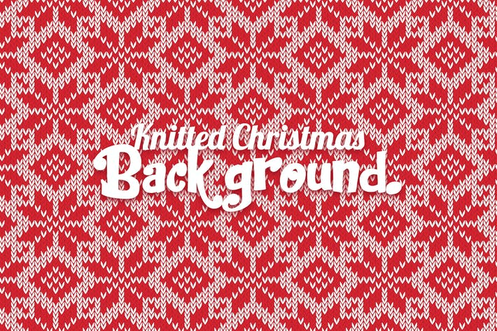Thumbnail for Knitted Christmas Background