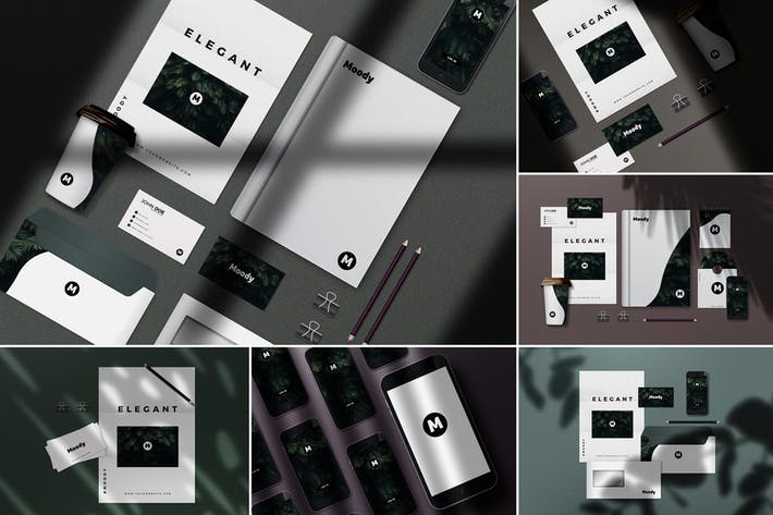 Thumbnail for 8 Identity Stationery Mockups