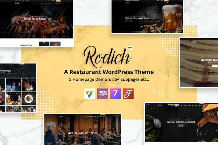 Thumbnail for Rodich - A Restaurant WordPress Theme