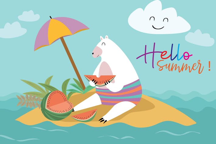Thumbnail for Hello Summer - Vector Illustration