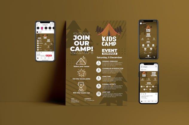 Kids Camp - Flyer & Instagram Template