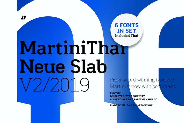 Thumbnail for MartiniThai Neue Slab V2