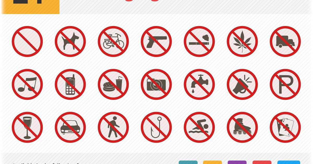 Warning Signs Flat Icons Vol 1 by roundicons
