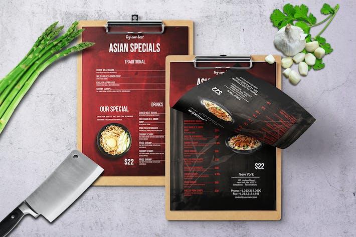 Thumbnail for Chinese Single Page Food Menu V3