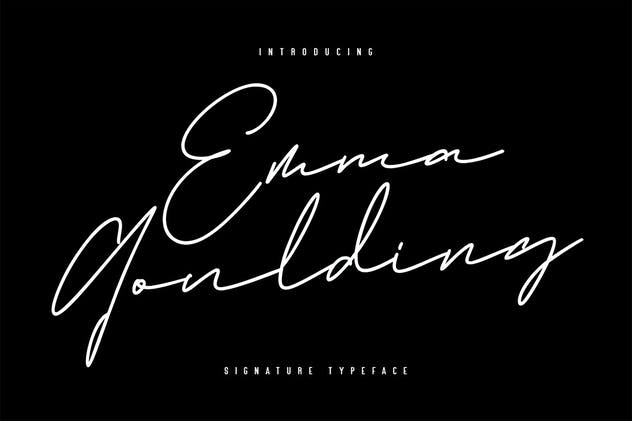 Emma Goulding Signature Collection Script Font - product preview 6