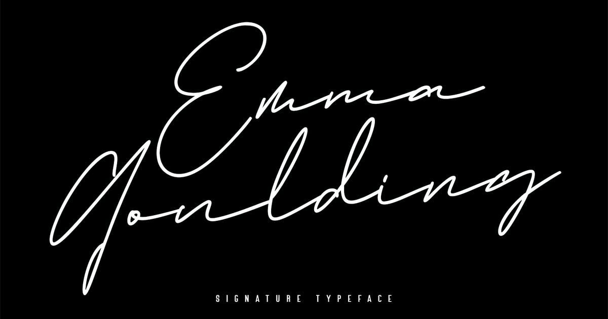 Download Emma Goulding Signature Collection Script Font by maulanacreative