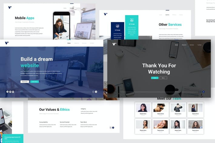 Thumbnail for Website Design Keynote Template