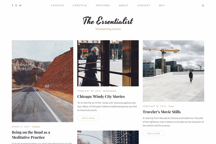 Essentialist — A Minimalist WordPress Blog Theme