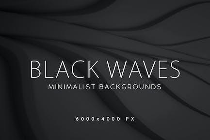 Black Minimalist Wave Backgrounds