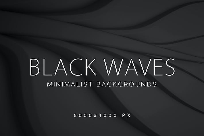 Thumbnail for Black Minimalist Wave Backgrounds