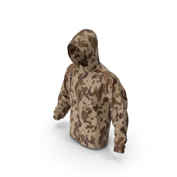 Thumbnail for Brown Military Jacket Hood