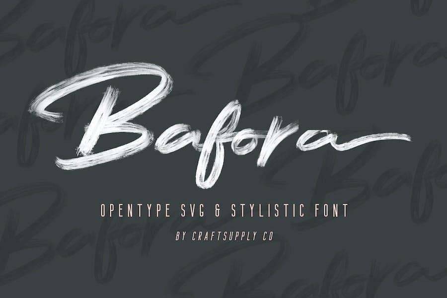Bafora - SVG Font