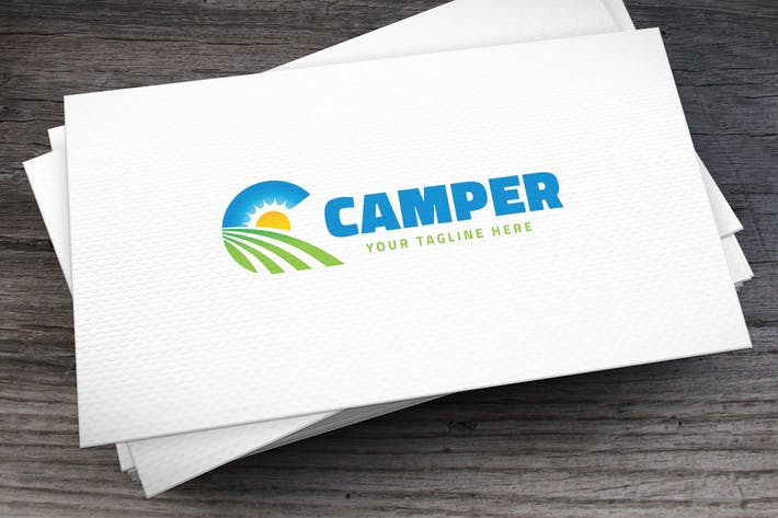 Thumbnail for Camper Letter C Logo Template