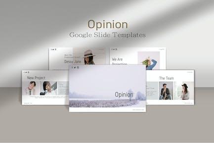 OPINION - Minimals Google Slide Template
