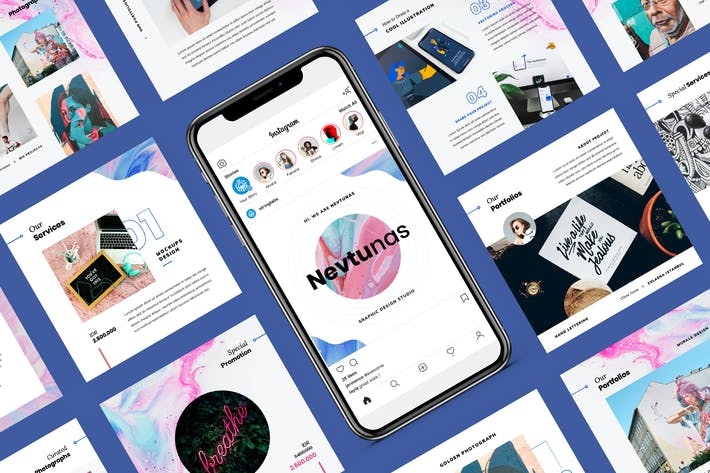 Thumbnail for Nevtunas - Instagram Keynote Template
