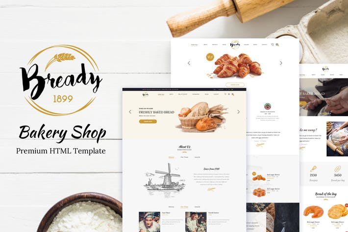Thumbnail for Bready - Bakery, Cakery & Food Template
