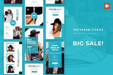 Big Sale Instagram Story Powerpoint Template