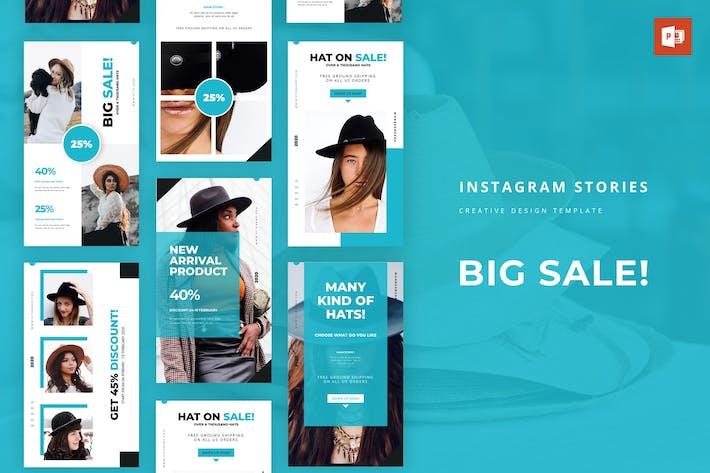 Thumbnail for Большая распродажа Instagram История Powerpoint Шаблон