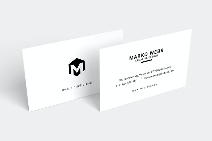 Thumbnail for MInimal Creative Design  Business Card