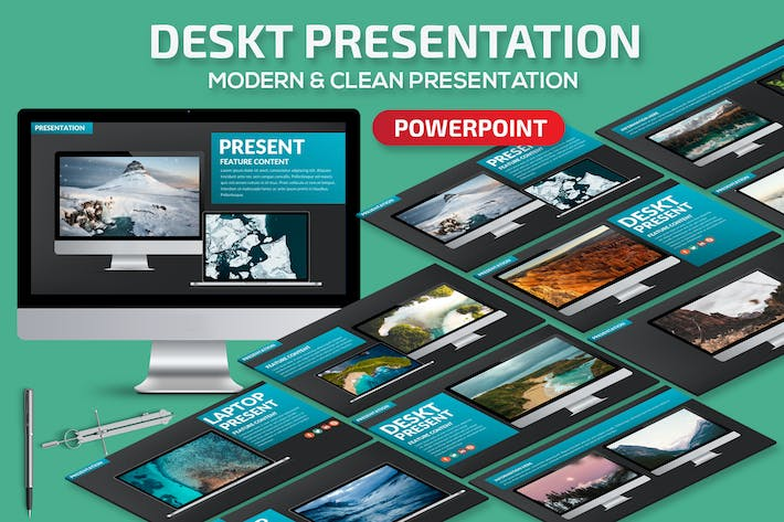 Thumbnail for Deskt Powerpoint Presentation Template