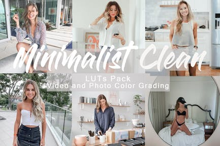MINIMALIST CLEAN -  LUTs Pack for Video and Photo