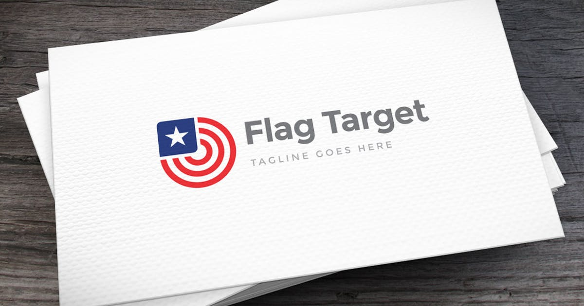 Download Flag Target Logo Template by empativo