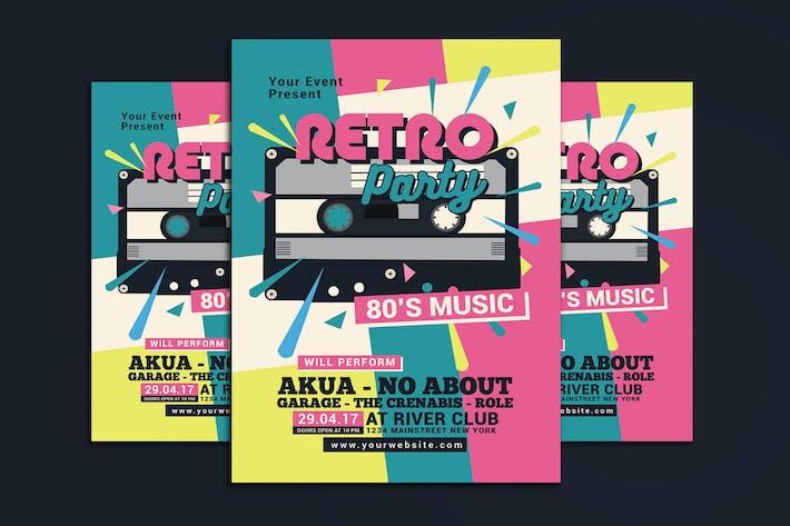 80's Retro Music Party Cassette