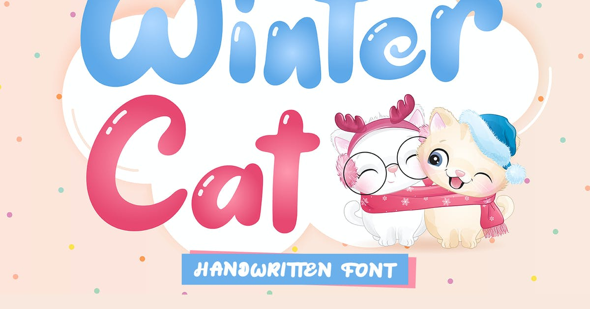 Download Winter Cat - display font by kidsdesign